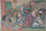 "Betting Shop-23x17 "" Watercolour on board"