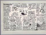 Original Pen and Ink -A4 in Grey mount-- Plymouth  Game & Blissett -92